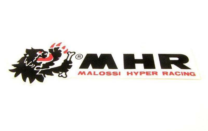 Aufkleber MALOSSI MHR / L 145mm, B 40mm