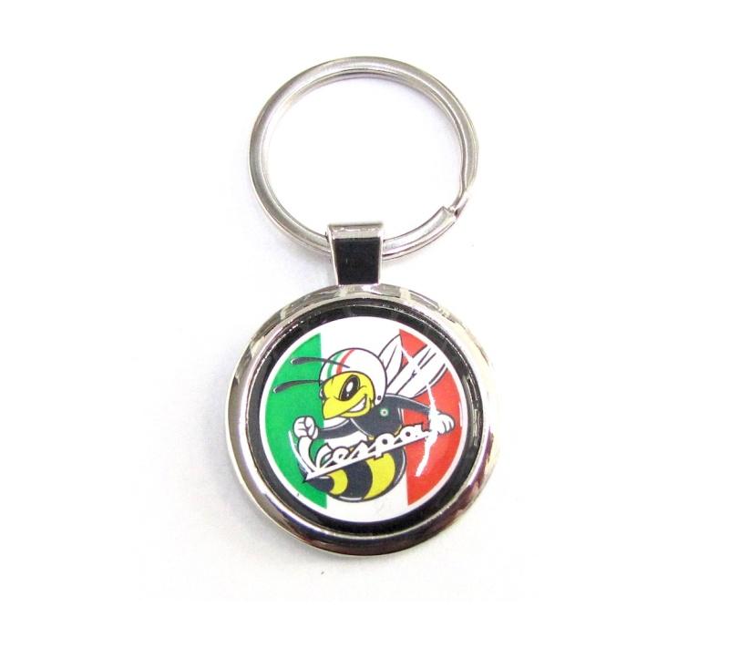 Schlüsselanhänger chrom /  Wasp Racing / Vespa
