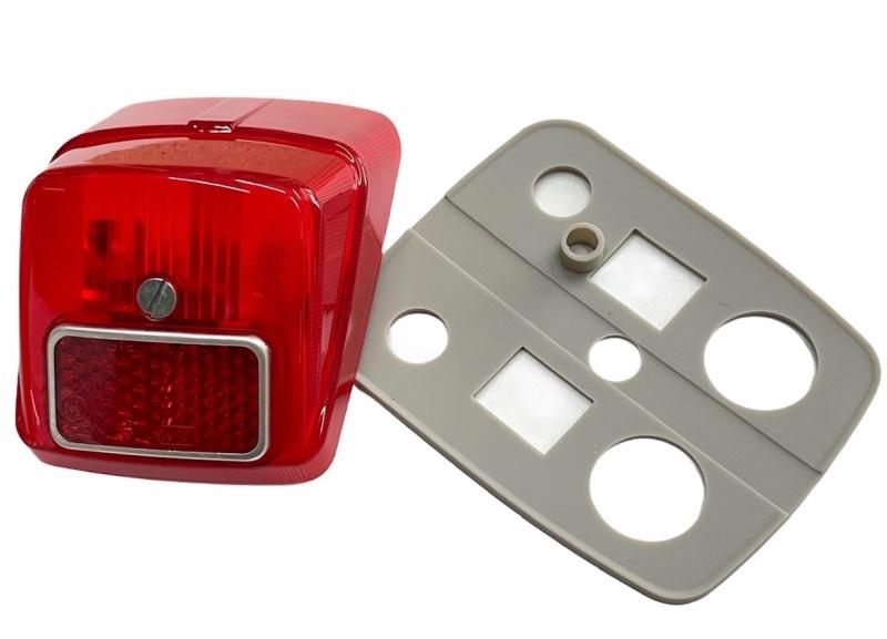 Rücklicht SIEM / Komplett Vespa V50 N/L/R / ohne Bremslicht
