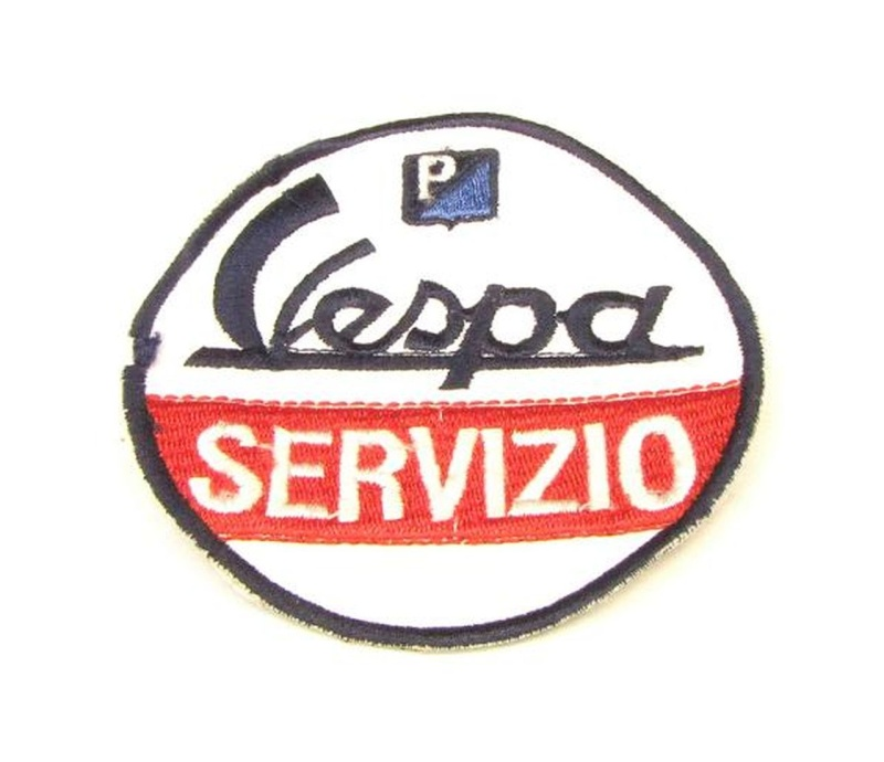 Aufnäher Vespa servizio / rund D= 74