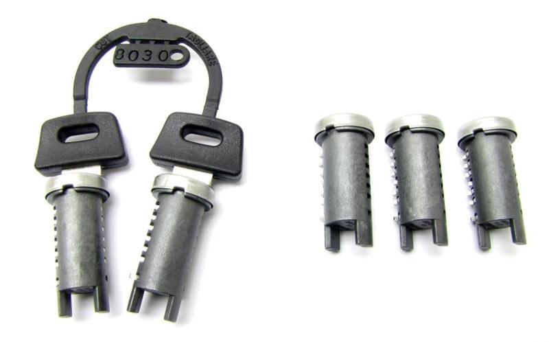 Schließzylinder - Schloss Satz 5 stück / 2 schlüssel