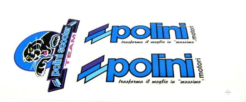 Aufkleber Set Polini Scooter Team