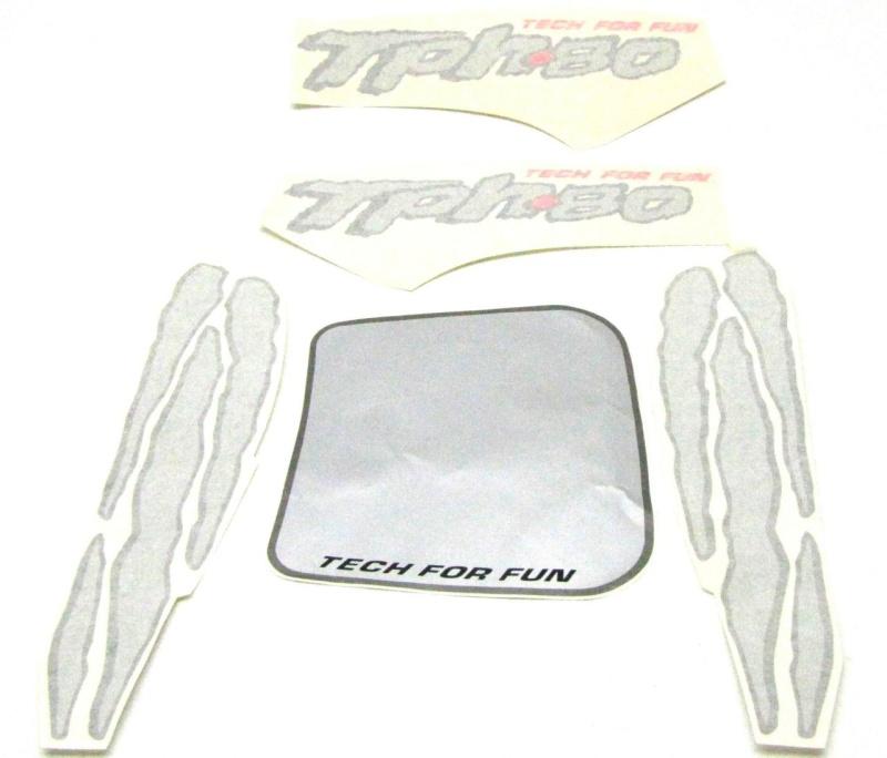 Aufkleber Set /  Dekorset / Piaggio TPH 80 silber
