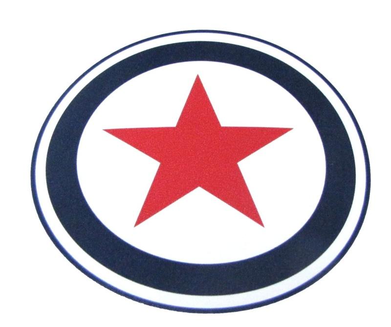 Aufkleber Target Stern / ca 94mm / rund
