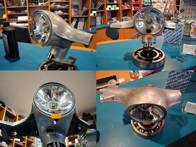 Scheinwerfer *SSP-G* Klar Vespa V50/90SS ab 66´PV-ET3/ 115mm