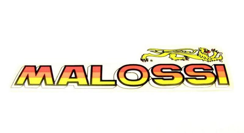 Aufkleber MALOSSI  / rot - orange-neon gelb  mit Löwe
