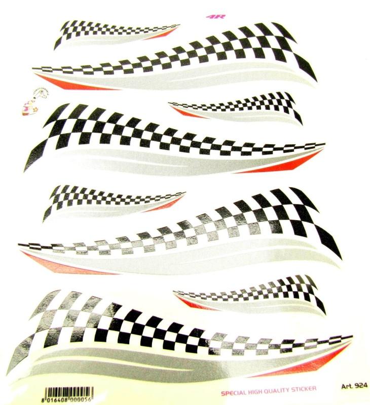 Aufkleber Set RACE FLAG